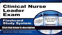 Download Clinical Nurse Leader Exam Flashcard Study System: CNL Test Practice Questions   Review