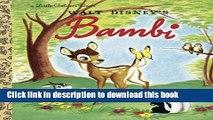 [Download] Bambi (Disney Bambi) (Little Golden Book) Kindle Free