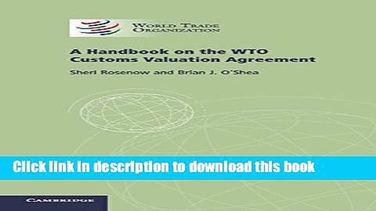 a handbook on the wto customs valuation agreement free download