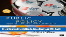 [Popular] Books Public Policy; Politics, Analysis, and Alternatives Full Online
