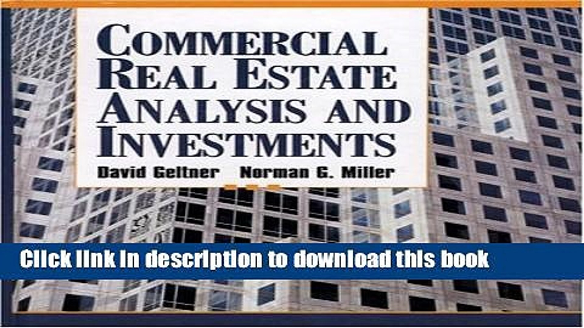 commercial real estate analysis and investments geltner pdf download