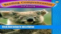 [PDF] Steck-Vaughn Reading Comprehension: Student Workbook Grade 1 (Level A) [Online Books]