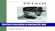 [Download] Petain: Verdun to Vichy Kindle Free