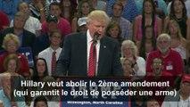 Donald Trump en appelle aux pro-armes pour stopper Hillary Clinton