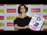 UNCUT Kangana Ranaut Launches Grazia Magazine Cover