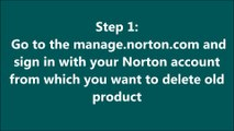 How to Remove Old (Expired) Norton Products from Norton Account?