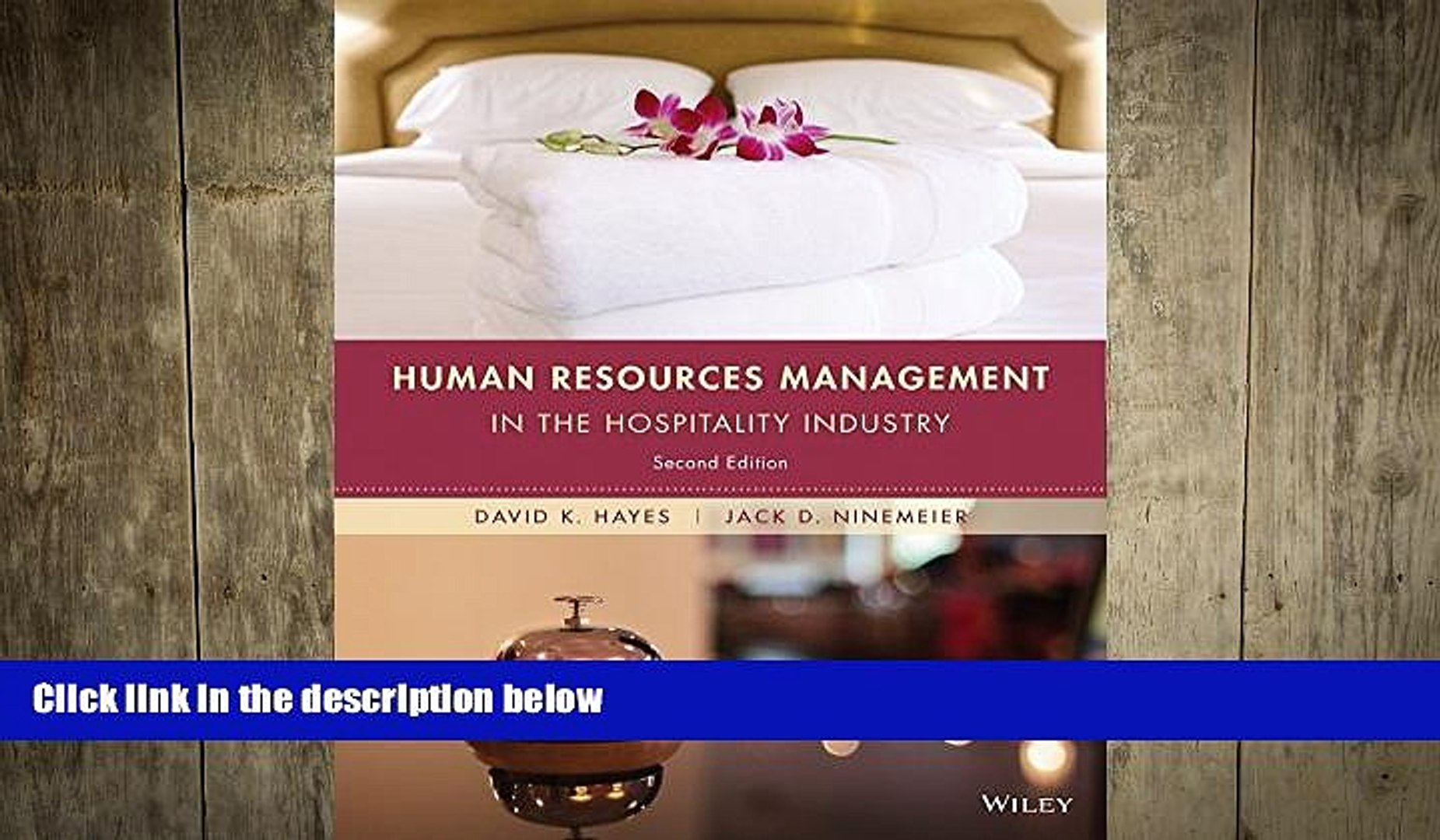 FREE PDF Human Resources Management in the Hospitality Industry BOOK ONLINE
