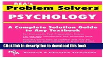 [Download] Psychology Problem Solver (Problem Solvers Solution Guides) Kindle Collection