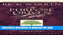 [Popular Books] The Purpose Driven® Life  What on Earth Am I Here For? (Purpose Driven® Life,