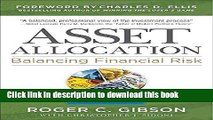 [Popular] Asset Allocation: Balancing Financial Risk, Fifth Edition Paperback Free