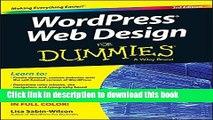 [Popular] WordPress Web Design For Dummies Hardcover Free