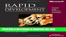 [Popular] Rapid Development: Taming Wild Software Schedules Hardcover OnlineCollection