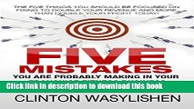 [Download] The Five Mistakes You Are Probably Making In Your Franchise Fitness Business: The Five
