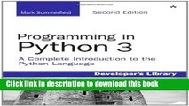 PDF Download] Programming in Python 3: A Complete