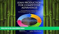 EBOOK ONLINE  Lean Production for Competitive Advantage: A Comprehensive Guide to Lean