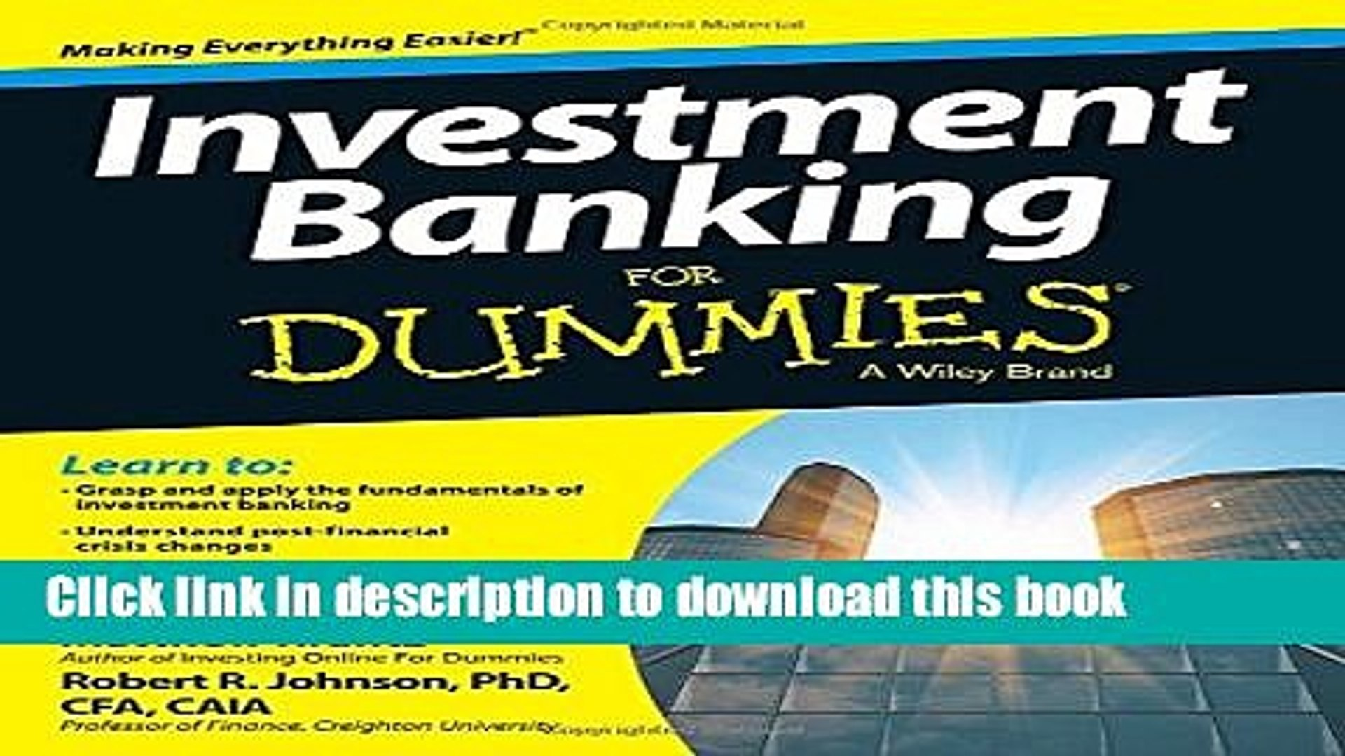[Popular] Investment Banking For Dummies Paperback Online