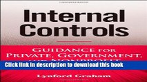 [Popular] Internal Controls: Guidance for Private, Government, and Nonprofit Entities Kindle Online