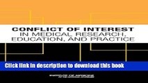 [Read PDF] Conflict of Interest in Medical Research, Education, and Practice Download Free