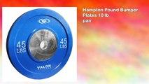 Hampton Pound Bumper Plates 10 lb pair