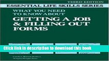 [Download] Getting a Job and Filling Out Forms: Essential Life Skills (Essential Life Skills