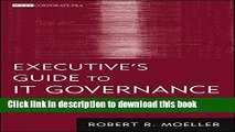 [Popular] Executive s Guide to IT Governance: Improving Systems Processes with Service Management,