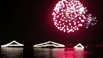 More fireworks on the Volga river at Navy day in Astrakhan