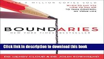 [Popular] Boundaries: When to Say YES, When to Say NO, To Take Control of Your Life Kindle Free