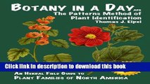 [Popular] Botany in a Day: The Patterns Method of Plant Identification Kindle Collection