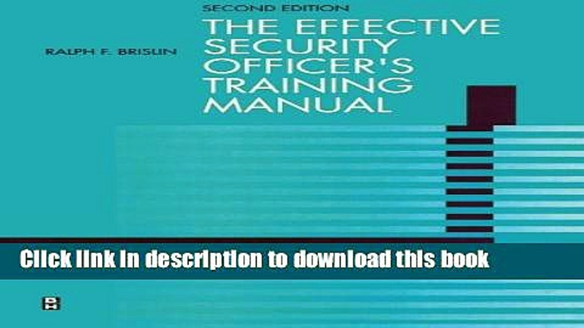 Effective Security Officers Training Manual