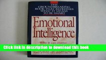 [Popular] Emotional Intelligence - Why It Can Matter More Than IQ Hardcover OnlineCollection