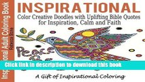 [Popular] Inspirational Adult Coloring Book: Color Creative Doodles with Uplifting Bible Quotes