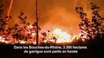 Le feu au nord de Marseille «fixé» dans de nombreuses parties