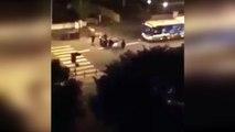 "PARIS: Migrant Gang attacks Passenger Bus with Molotov Cocktail, shouts ""Allahu Akbar"" as it burns"