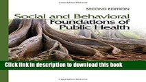 [PDF] Social and Behavioral Foundations of Public Health: Second Edition Download Online