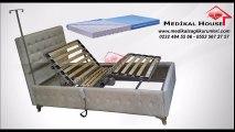 Ergonomik Korkuluklu Elektrikli Lazımlıklı Hasta Karyolası-Yatağı