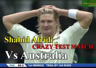 Shahid Khan Afridi 'CRAZY TEST MATCH BATTING' 31 off 15 balls vs AUSTRALIA HD