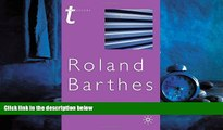 Popular Book Roland Barthes (Transitions)