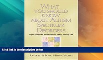 READ FREE FULL  What You Should Know About Autism Spectrum Disorders. Signs, symptoms, treatments