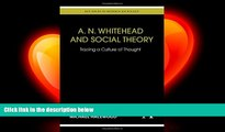 different   A. N. Whitehead and Social Theory: Tracing a Culture of Thought (Key Issues in Modern
