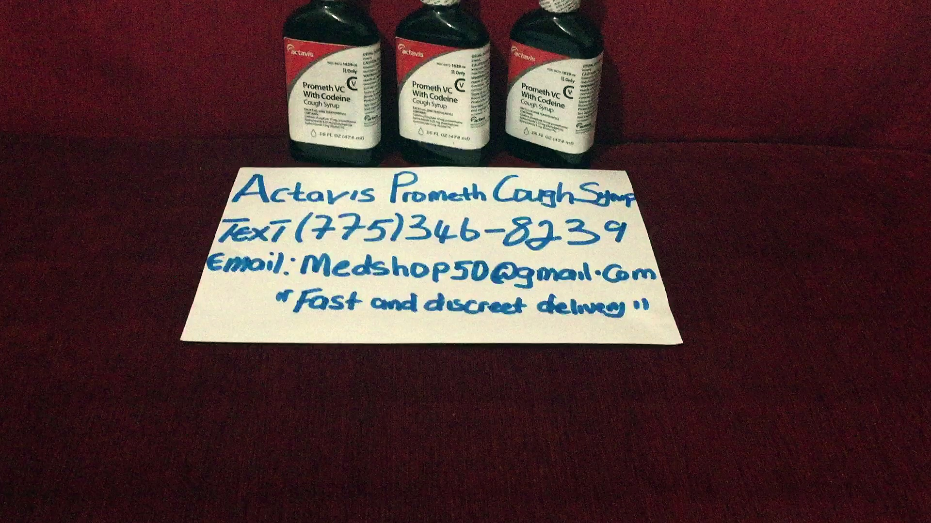 Actavis promethazine with codeine cough syrup available