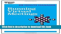 [Popular] Running Virtual Meetings (HBR 20-Minute Manager Series) Paperback Free