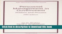 [PDF Kindle] Personnel Management in Government: Fifth Edition, Politics and Process (Public