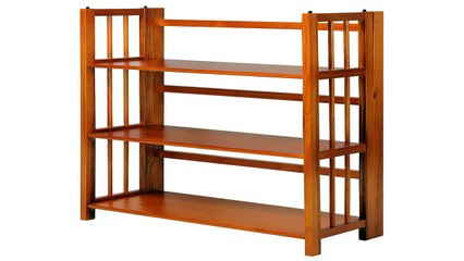 Casual Home 3 Shelf Folding Stackable Bookcase Natural
