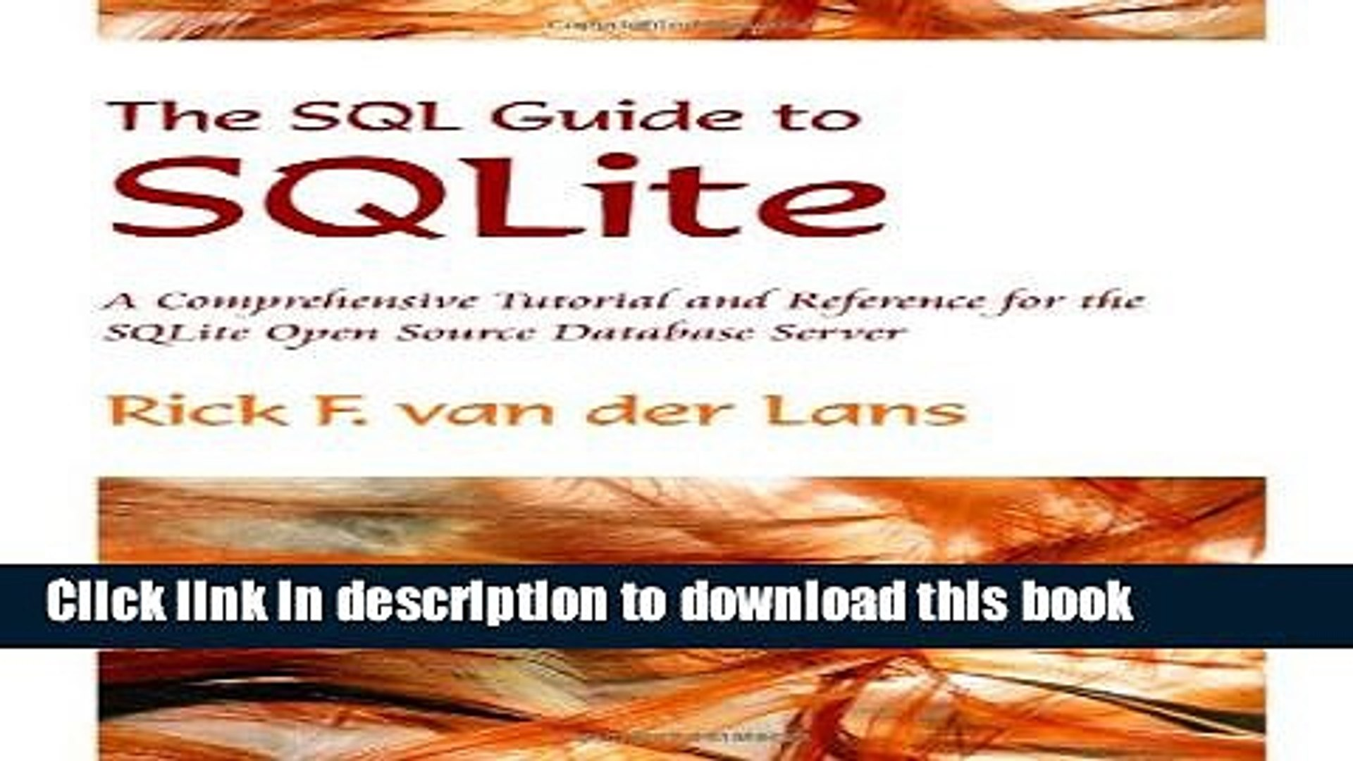[PDF Kindle] The SQL Guide to SQLite Free Download