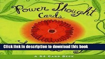 [Popular] Books Power Thought Cards: A 64 Card Deck (Box Set) Free Online