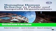 [PDF] Managing Human Behavior in Public and Nonprofit Organizations [Online Books]