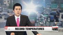 Heatwave continues in Korea, temperatures reach almost 40 degrees Celsius