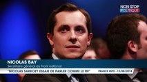 """Pour Nicolas Bay, Nicolas Sarkozy """"essaie de parler comme le FN"""" mais """"gouverne comme la gauche"""""""