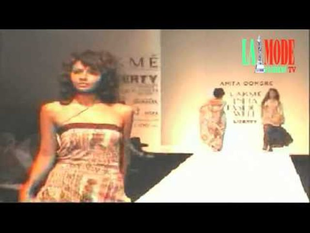 Part 4 Short skirts Anita Dongre's show from archives of La Mode Fashion Tube
