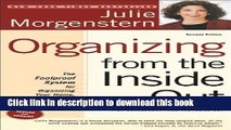 [Popular] Organizing from the Inside Out, second edition: The Foolproof System For Organizing Your